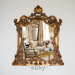 Fleur Scroll Style Mirror Rare Large Ornate Decorative Flower Design Mirror