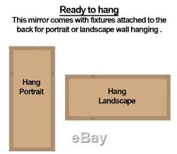 Floyd Full Length 2 Tone Pewter/Champagne Gold Frame Leaner Wall Mirror 59 x 24