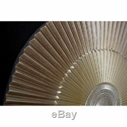 Framed round carving, two tone gold, wall art