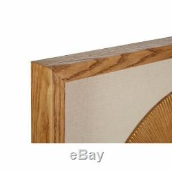Framed round carving wall art, medium-density fibreboard