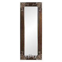 Full Length 63-in Wall Mirror with Quality Wood Frame and Antique Silver Gold Ac
