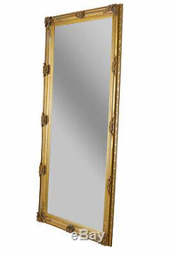 Full Length Mirror Gold 200x90cm Wall Antique Standing Dressing