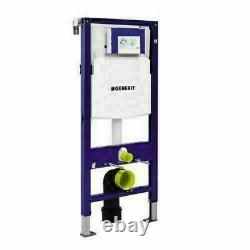 GEBERIT SIGMA 1.12m WALL HUNG CONCEALED WC CISTERN TOILET FRAME WITH FLUSH PLATE