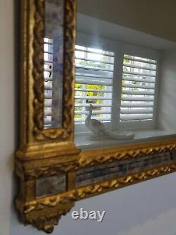 Gilt-frame Pier Mirror parclose Overmantle Wall Mirror smoky glass accents