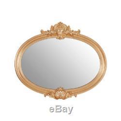 Giselle Wall Mirror Polyurethane Oval Frame Gold Retro Vintage Style