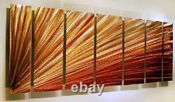 Gold, Amber, Copper Metal Wall Art BEAUTIFUL Modern Panel Art Artist Jon Allen