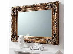 Gold Carved Handmade Baroque Framed Mirror (Large Leaner & Wall Mirror Avail)