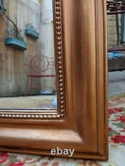Gold Gilt French Louis Vintage Antique Ornate OVERMANTEL Tall Wall Frame Mirror