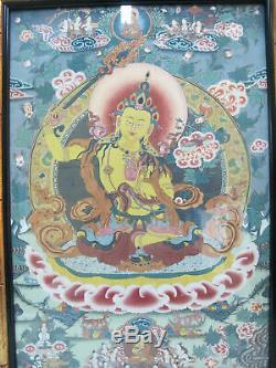 Gold Leaf Enhanced Framed TIBETAN MANDALA Intricate BUDDHISM Wall Art