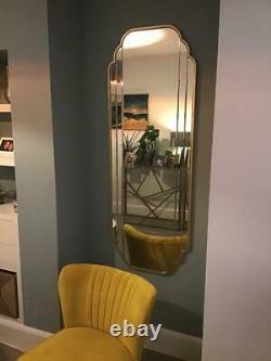 Gold Long Wall Mounted Bathroom Bedroom Hallway Living Room Mirror Full Length