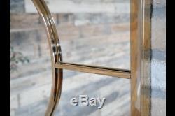 Gold Metal Frame Deco Window Wall Mirror 130 x 80 cm NEW