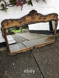 Gold Mirror Ornate Wall Mirror Aged Antique Mirror Distressed Frame