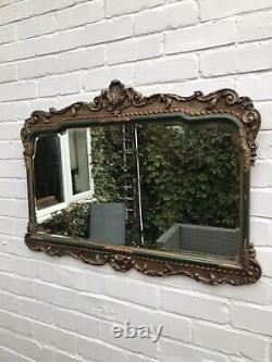 Gold Ornate Wall Mirror Aged Antique Mirror Distressed Frame Green Victorian