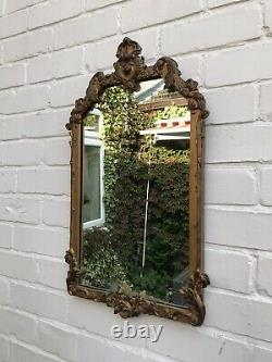 Gold Ornate Wall Mirror Aged Antique Mirror Distressed Frame Victorian Mirror