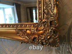 Gold Shabby Chic Ornate Decorative Carved Wall Mirror 37.5 x 27.5 NEW