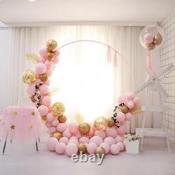 Gold White 2m Arch Circle Moon Gate Frame Wedding Balloon Birthday Flower Wall