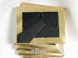 Gold Wood Frames Lot 60 Pcs Bronze Wall Mount Picture Photo Frame Glass Wedding