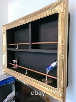 Gold framed Wall Shelving
