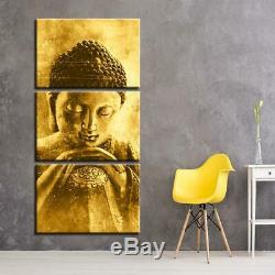 Golden Buddha Canvas Art Print for Wall Decor Painting
