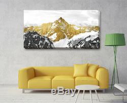 Golden Mountain Canvas Print Framed Wall Art Home Office Shop Bar Decor Gift DIY