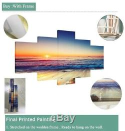Golden Rays Fractal Flower 5 panel canvas Wall Art Home Decor Print Poster