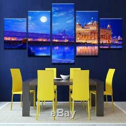 Golden Temple At Night Canvas Art Print for Wall Decor Painting