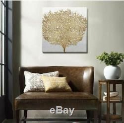 Golden Tree Canvas Print Framed Wall Art Home Office Restaurant Shop Decor