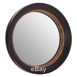 Gwen Wall Mirror Polyurethane Frame Black & Gold Shabby Chic Style