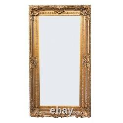 HEAVY ORNATE 6FT WALL/ FLOOR MIRROR Ornate GREY OR GOLD NEW. Ask for. Deliv quote