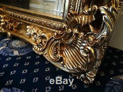HUGE XL Oversized large Opulent Mirror Chunky Gold frame, wall mounted Leaner