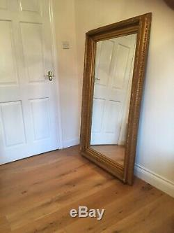 HUGE XL Oversized large Opulent Mirror Chunky Gold frame, wall mounted or Leaner