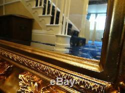 Huge Xl Oversized Large Opulent Mirror Chunky Gold Frame
