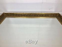 HUGE XL Oversized large Ornate Mirror Chunky Gold frame, wall mounted or Leaner