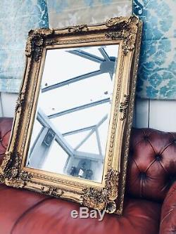 Heavy Ornate Wall Mirror 3ftx4ft. Deep Framed. Antiqued GOLD or SILVER