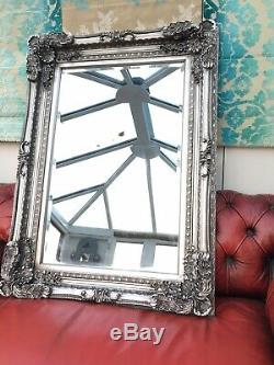 Heavy Ornate Wall Mirror 3ftx4ft. Deep Framed. Antiqued SILVER Or GOLD