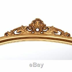 Henrietta Over Mantle Wall Mounted Mirror Gold Decorative Natural Wood Frame New