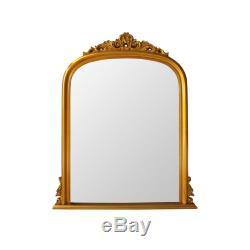 Henrietta Wall Mirror Wood Gold Rectangular Home Décor Contemporary Style