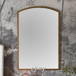 Higgins Arched Antique Gold Rustic Metal Frame Wall Mirror W60cm x H90cm