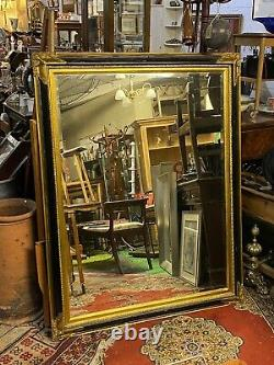 Huge Black and Gold Wall Mirror 142cm x 112cm Portrait Hanging