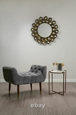 Interiors By Premier Tribeca Gold Wall Mirror Metallic Gold Cup Frame