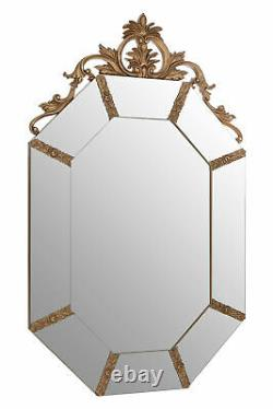 Interiors By Premier Wall Mirror With Gold Resin Frame Neoclassical Design