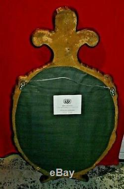 JOHN RICHARDS Baroque / Rococo Style Gold Wreath Frame Oval Wall Mirror