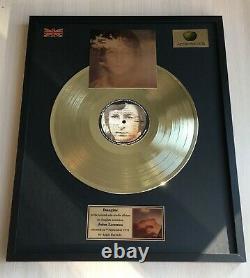John Lennon Imagine 1971 Custom 24k Gold Vinyl Record In Wall Hanging Frame