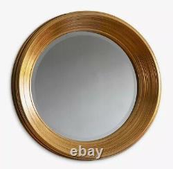 John Lewis Chaplin Indoor Wall Mounted Round Mirror Dia. 65cm Gold A
