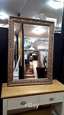 John Lewis Constantina Ornate Wall Mirror Gilt French Antique Gold 117x92cm