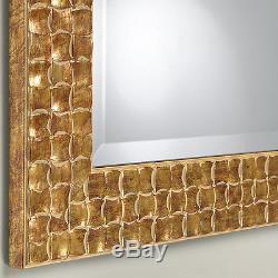 John Lewis Gold Mosaic Wall Mirror Wood Frame Bevelled 106x76cm (42x30)RRP£150