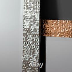Kingsway Set of 4 Gold Mosaic Frame Full Length Long Wall Mirrors 53 x 17.5