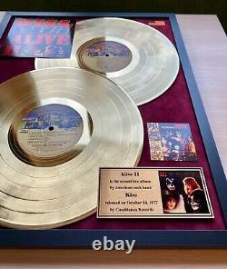 Kiss Alive II 1977 Custom 24k Gold Vinyl Record in Wall Frame