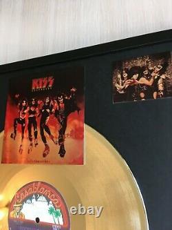 Kiss Destroyer 1976 Custom 24k Gold Vinyl Record In Wall Hanging Frame