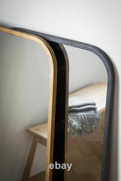 Kurva Leaner Hanging Mirror Large Rustic Black Metal Full Length 119.5cm x 56cm